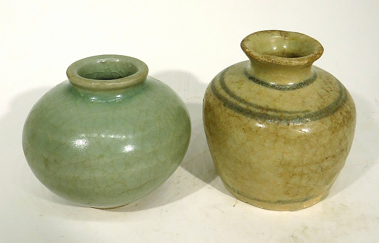 TWO SMALL INK WELLS