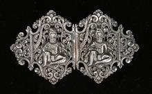 INDIAN COLONIAL STERLING BELT BUCKLE