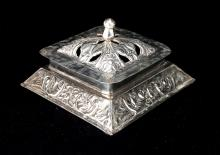 MEXICAN SILVER LIDDED BOX