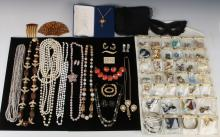 LARGE LOT OF VINTAGE COSTUME JEWELRY