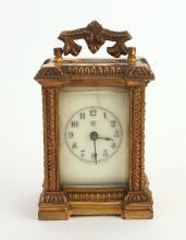 MINIATURE CARRIAGE CLOCK BY WATERBURY