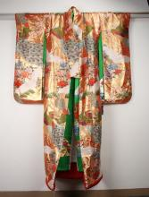 GOLD AND RED JAPANESE WEDDING KIMONO