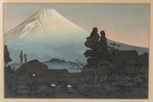 FRAMED JAPANESE PRINT OF MOUNT FUJI