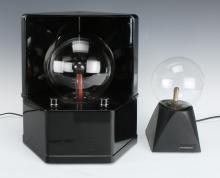 TWO GLASS TESLA LAMPS/ PLASMA GLOBES