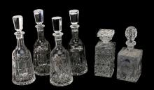 CRYSTAL DECANTERS WITH STOPPERS