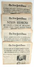 FOUR NEW YORK TIMES 1974 NIXON WATERGATE
