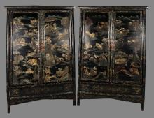PAIR OF LACQUERED CABINETS