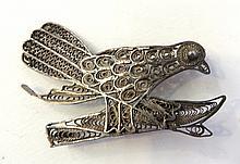 Silver Bird Pin