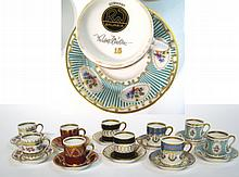 Ten Cups & Saucers By Bavaria