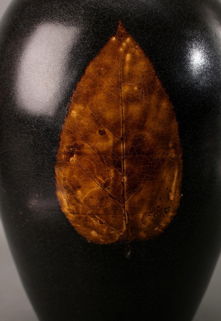 Amber leaf vase for Amber leaf