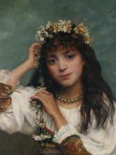 ALEXEI HARLAMOFF OIL PORTRAIT OF A GIRL
