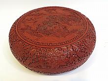 Large Cinnabar Lidded Box
