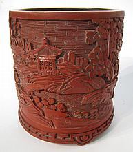 Cinnabar Brush Pot