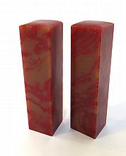 Two Red Stone Chinese Chops