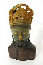 Chinese Horn Carved Buddha