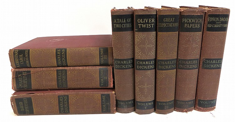 Leather Bound Set Of Dickens' Works