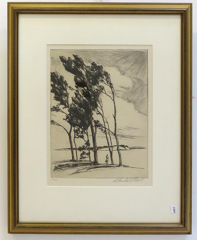 Christian Dull, (American, Born 1902) Etching