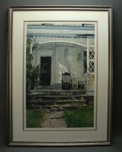 FRAMED PRINT OF SHARPLESS WORREL HOUSE
