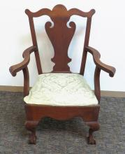 ANTIQUE CHIPPENDALE STYLE CHAIR