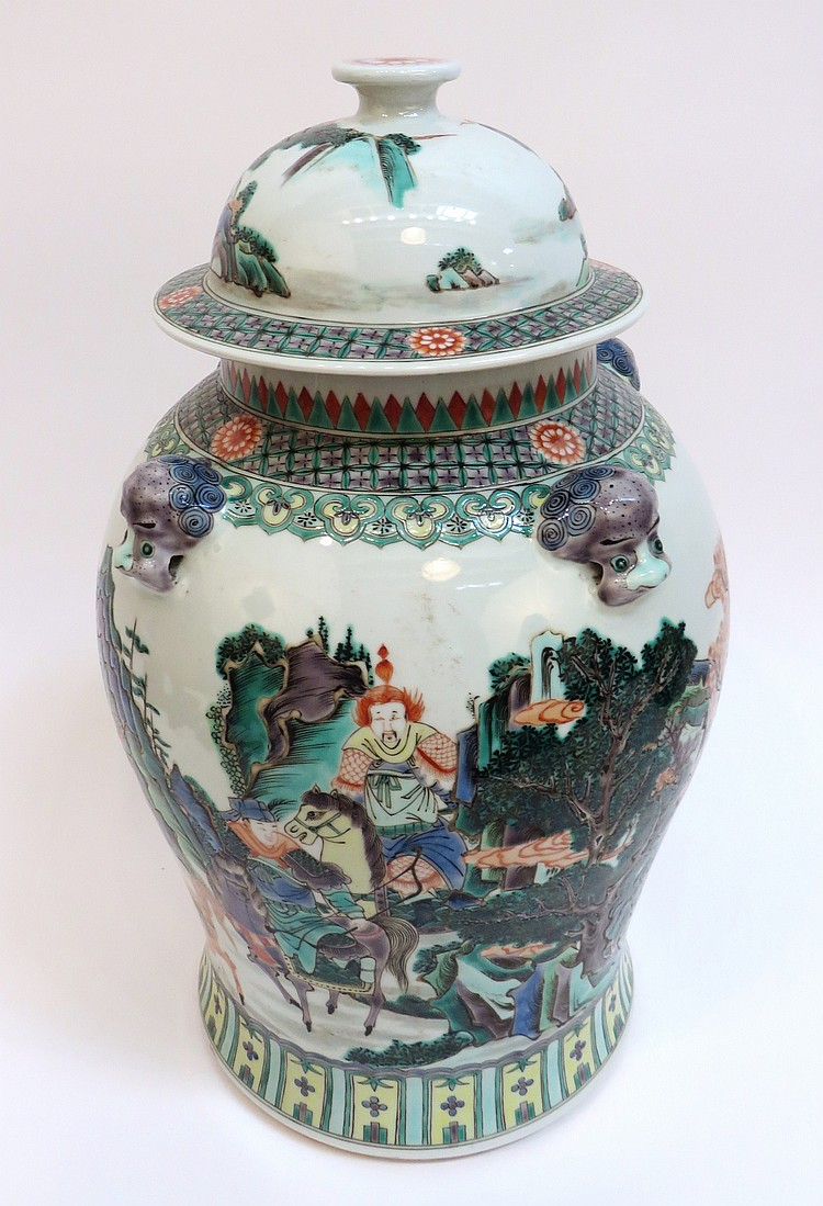 chinese kangxi ginger jar. Black Bedroom Furniture Sets. Home Design Ideas