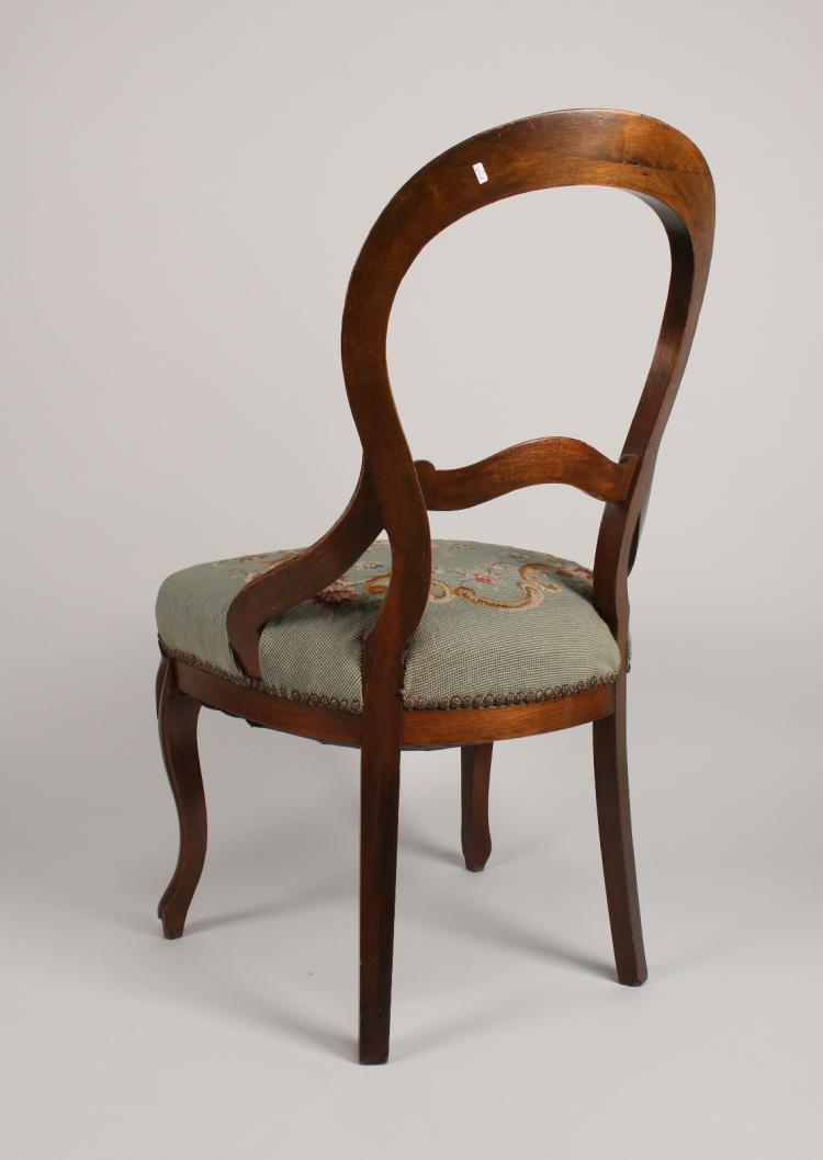 Victorian style walnut arm chair