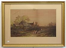 Framed Painting Signed L. Goldsmith