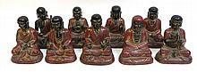 19th C. Chinese Luohan Bronze Figurines