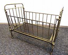 Child Size Brass Crib