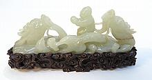 Qing Dynasty White Jade Sculpture