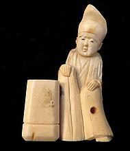 19th Century Japanese Bone Carved Netsuke