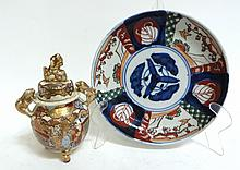 Imari Dish And Satsuma Urn