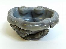 Agate Carved Brush Washer