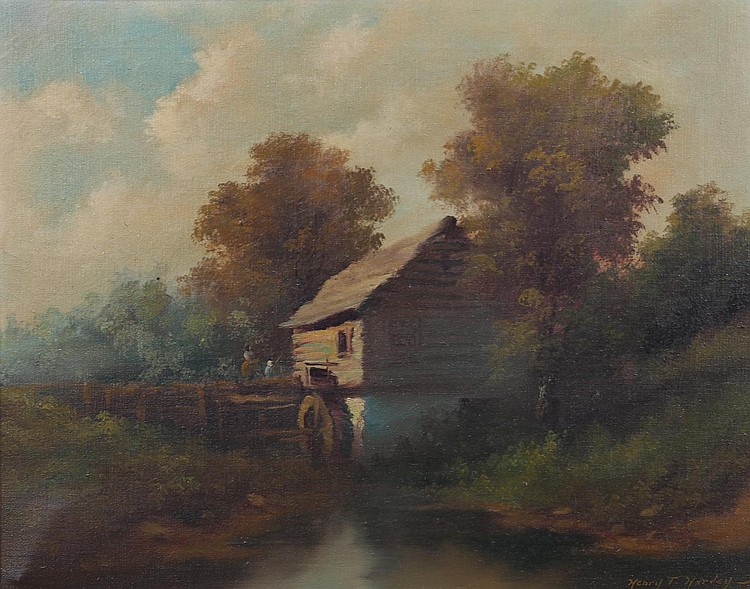 Henry T. Harvey. At the Mill, oil on canvas