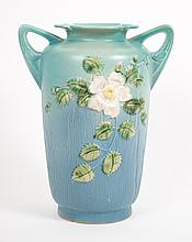 Roseville Pottery White Rose vase