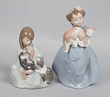 Two Lladro porcelain figural groups