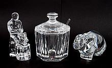 Three Orrefors crystal items