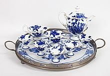 Royal Worcester eight-piece china tea set