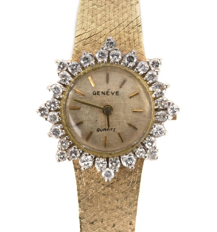 a s geneve in diamonds and 14k gold