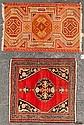 Turkish Yastik rug and an antique Feraghan rug