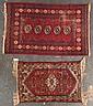 Two rugs; one Hamadan rug and one Bohkara rug