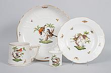 Four pieces of Herend porcelain tableware