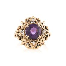 A Lady's Amethyst Ring in 14K Gold