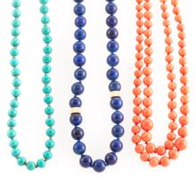 A Trio of Lady's Beaded Necklaces