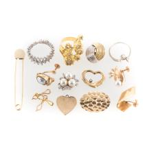 A Collection of Lady's Gold Jewelry