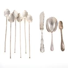 Miscellaneous sterling silver flatware, 9 pieces