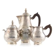 Mexican sterling silver 3-piece coffee set
