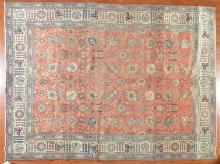 Persian Tabriz carpet, approx. 9.9 x 13