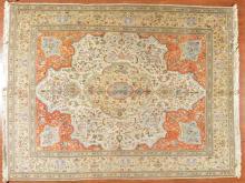 Persian Tabriz carpet, approx. 9.9 x 12.4