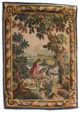 French Aubusson tapestry, approx. 3.8 x 4.5