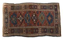 Antique Kuba rug, approx. 3 x 4.8